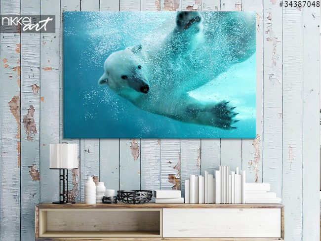 A polar bear in your interior